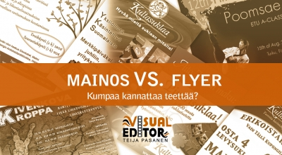 Mainos vs. flyer