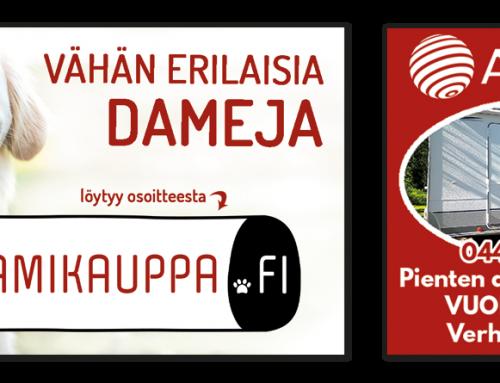 Logoja & lehti- mainoksia
