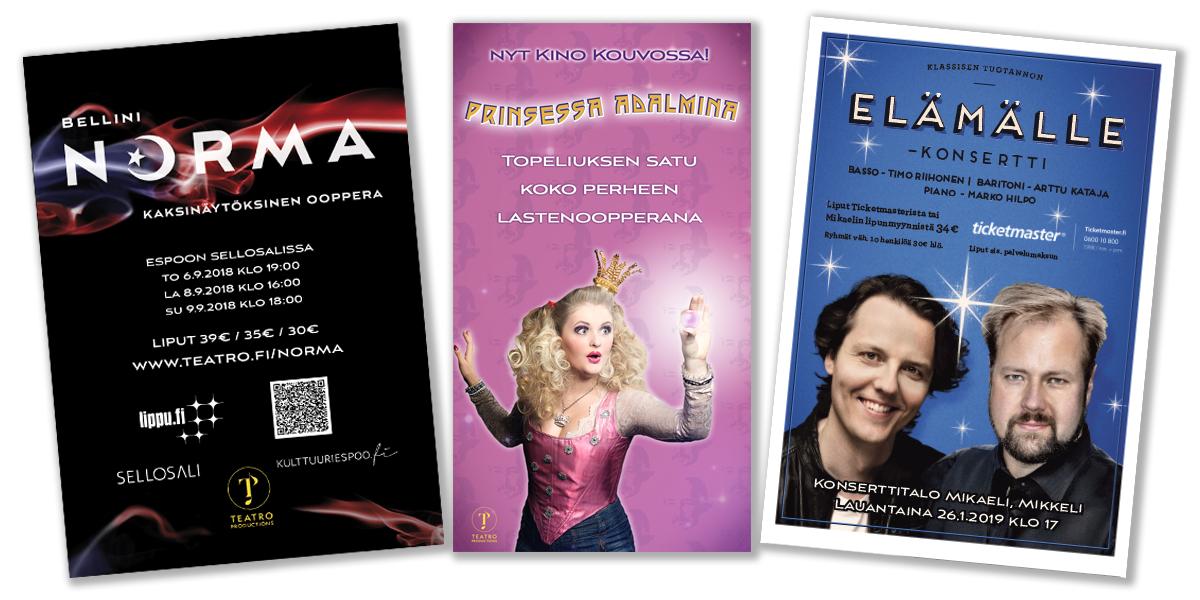 teatro mainokset
