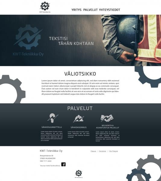 nettisivun ulkoasu suunnittelu